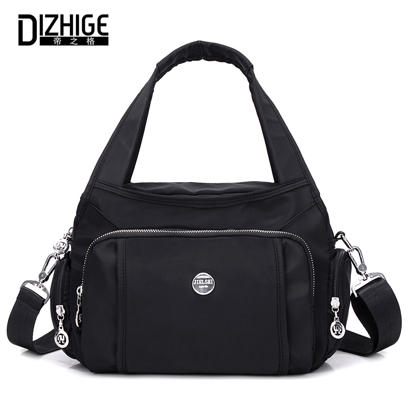 DIZHIGE Brand Fashion Women Handbag Solid High Quality Crossbody Bags For Women Large Capacity Waterproof Shoulder Bag Female