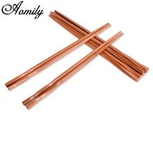 Aomily 5 Paare/satz Chinesischen Stäbchen Handgemachte Carbonized Bambus Haushalt  Modernen Stil Reisen Geschirr Geschirr Stäbche.