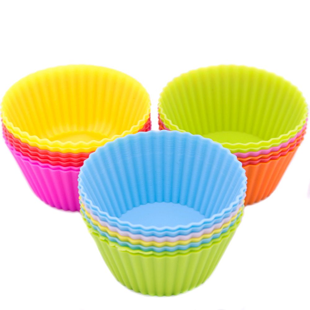 12pcs Cupcake Liners Mold 7CM Muffin Round Silicone Cup Cake Tool Bakeware Baking Pastry Tools Kitchen Gadgets