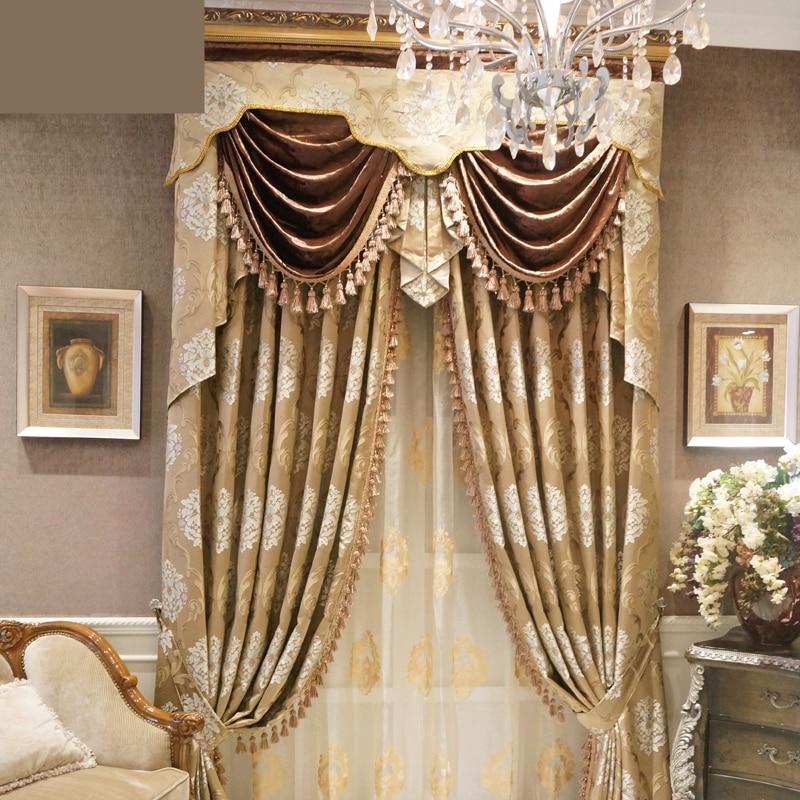 luxury european high precision jacquard curtains highgrade living room bedroom full custom luxury curtain