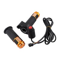 1set Electric Scooter Handlebar Grip Electric Bike Throttle Twist Accelerator With LED Display Tricycle Speed Control