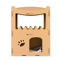 Pet cat scratch board, house house, board big corrugated paper, climbing frame villa claw