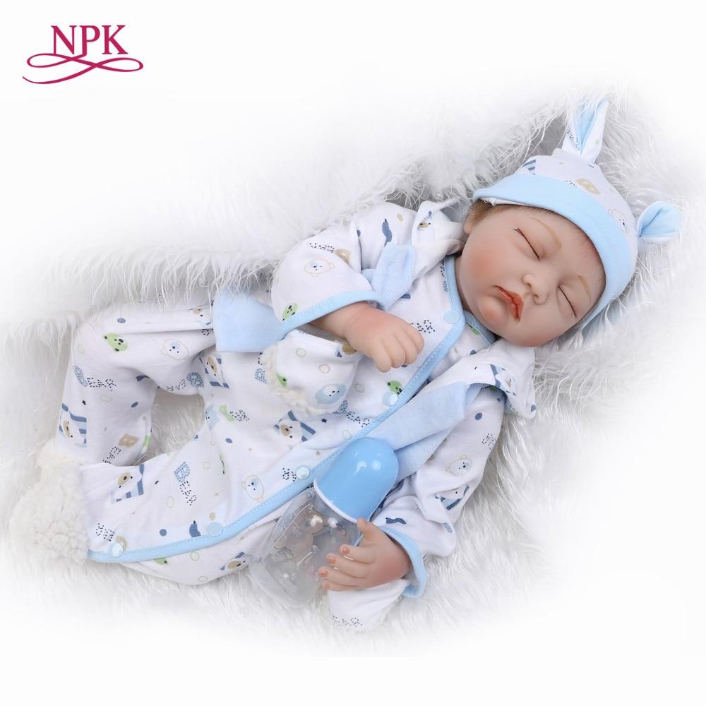 NPK muñeca con suave real suave touch22inch bebé muñeca realista de silicona de vinilo regalo de Navidad dulce bebé-in Muñecas from Juguetes y pasatiempos    1