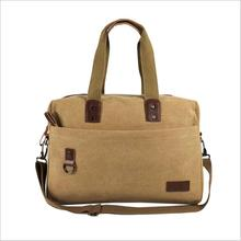 Large-capacity canvas retro sports handbags factory direct specials shoulder men and women gym bag to be produced