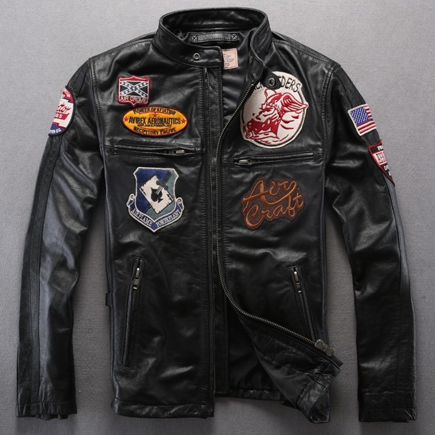 Popular Leather Flight Jacket-Buy Cheap Leather Flight Jacket lots ...
