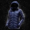 2016 de Invierno pato por los hombres chaqueta puffer Ligero abrigo Chaquetas Parka Capucha Ropa pluma chaqueta hombre invierno