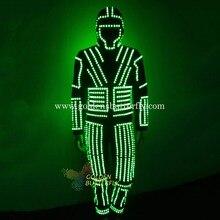 Robot LED Costume Luminous Costumes Glowing Stilts Clothes LED Clothing Talent Show Dancing Men's Suits Ballroom Dance Dress