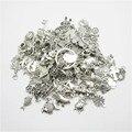 Comercio al por mayor 80 unids Mezcla Aleatoria diferente fit Colgantes de Plata Tibetanos de Los Encantos Aleación Del Metal Del Encanto para la joyería que hace