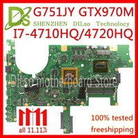 KEFU G751JT For ASUS G751J REV2.5 G751JY I7 4720HQ/I7 4710HQ GTX970M video card Laptop Motherboard Test 100% ORIGINAL