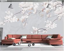 custom photo 3d wallpaper non woven mural wall sticker simple hand painted magnolia painting wallpaper 3d wall murals wallpaper