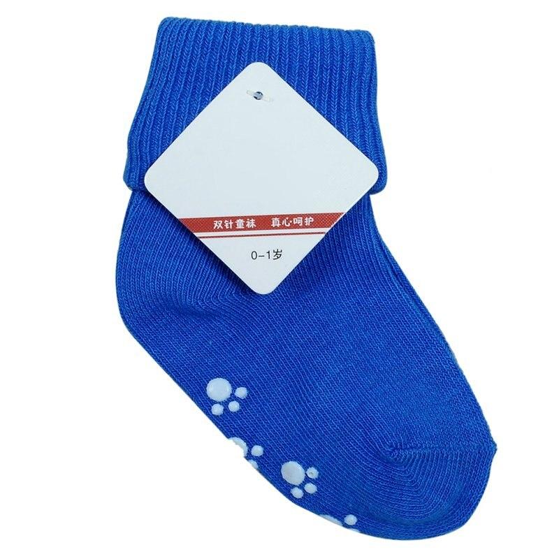 Girl Boy Non Slip Children Sock Kids Short Socks  Newborn Baby Unisex Cotton Socks 0-1 Y 6 Colors