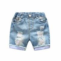 Trendy Children Jeans For Boys Clothing New Baby Boys Holes Shorts Jeans Kids Summer Blue Denim