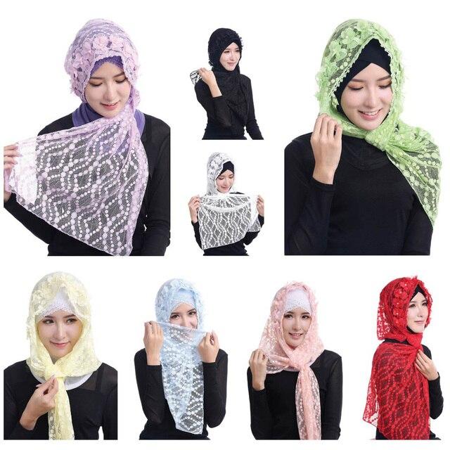 Musulman Tête Revêtements Fille De Mode Dentelle Islamique Vêtements Sous  Foulard Hijab Enfants Turban Écharpe Ramadan