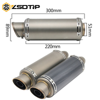 ZSDTRP Motorcycle Exhaust Muffler Pipe Dirt Bike Muffler GP Exhaust Bike Scooter CBR125 YZF R1 R6 R15 GXSR Z750 With DB Killer