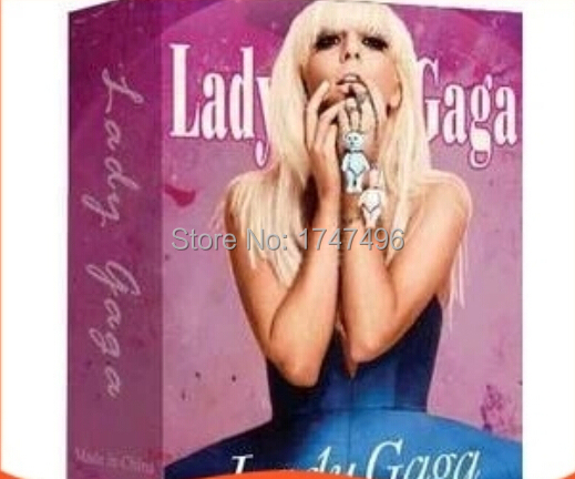 Free shipping paper collective super star lady gaga poker cards celebrity playing card as collection poker