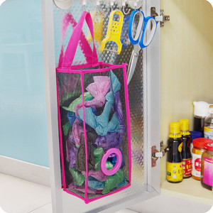 Image 4 - שימושי אופנה תליית לנשימה פלסטיק רשת אשפה תיק גרבי ושונות אחסון מארגני מטבח אחסון חדר אמבטיה.