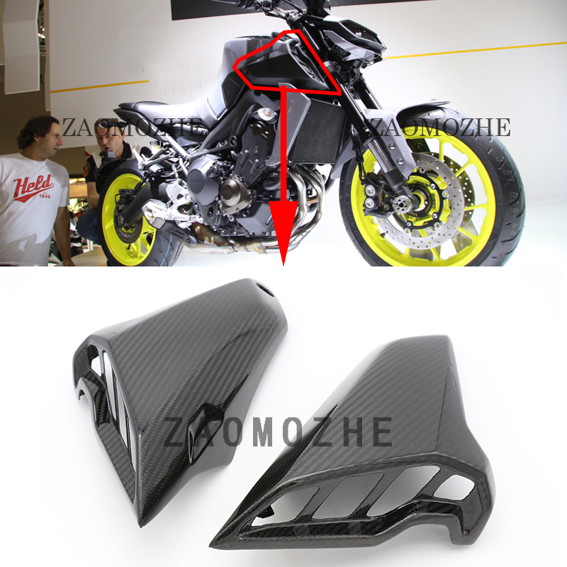 For Yamaha MT09 MT-09 2017 2018 Motorcycle Real Carbon Fiber Upper Side Mid Panel Cowl