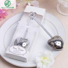 Heart-shaped tea leak Wedding Favors Gifts Souvenirs Supplies Boda strainers fil