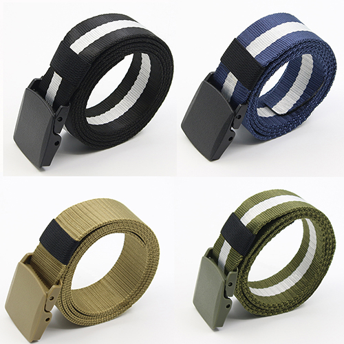 Men's Automatic Buckle   Belt   Practical Tactical Military Nylon Canvas Waist   Belt   Waistband tactical   belt