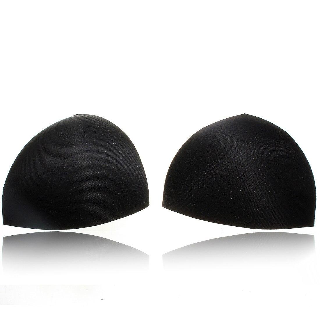 1 Pair Womens Sponge Gel Bra Inserts Pads Breast Enhancer Intimates Padded Bras Underwear White Black Nude Color 3