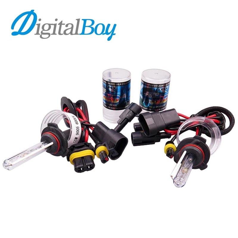 Digitalboy 12V 55W HID 9005 Xenon Bulbs Car Headlight Fog Lamp HB3 Auto Car Headlamp Conversion Car Lighting 4300k 5000k 6000k рога mars sd 218m алюминий 6061 d 22 2мм длина 82 мм вес 58 г красные sd 218m