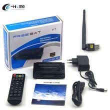 España portugal Francés Europa Freesat V7 CCCAM Receptor de Satélite CCCAM Apoyo Caja de la TV DVB-S2 Powervu, Cccam Youporn Con USB Wifi