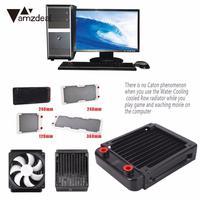 Amzdeal 120mm 240mm 360mm Computer Water Cooler Radiator Laptop Heatsink Cpu Cooler Transfer Threaded Desktop Laptop