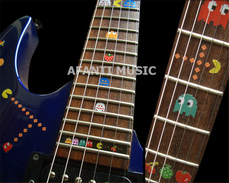 Afanti musique guitare doigt conseil autocollant/coquille autocollant incrustation (FPD-119)