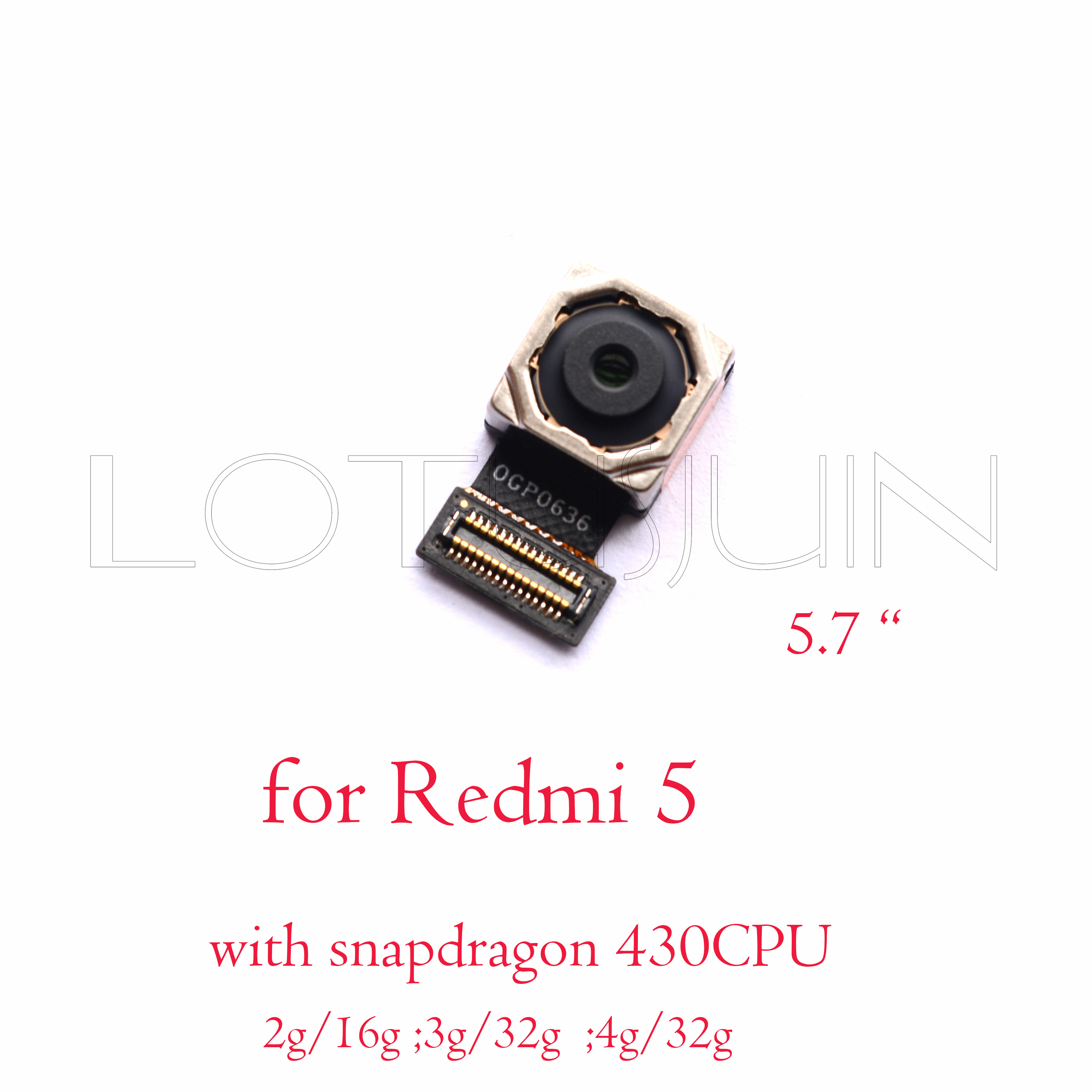 back rear camera for XIaomi Redmi 5 5A Redmi5 plus Redmi Note 5 5A Pro prime in Mobile Phone Flex Cables from Cellphones & Tele munications on