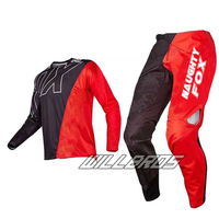 2017 Racing 360 Cero MX Motocross Jersey & Pant Combo Offroad ATV Dirt Bike Black Red Gear Set
