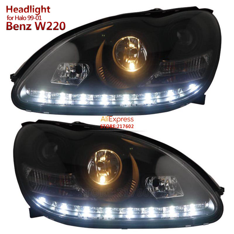 Us 558 9 For Mercedes Benz S Class W220 S280 S320 S500 S600 S350 Projector Headlights Fit 1999 2001 Year Halogen Models In Car Light Assembly From