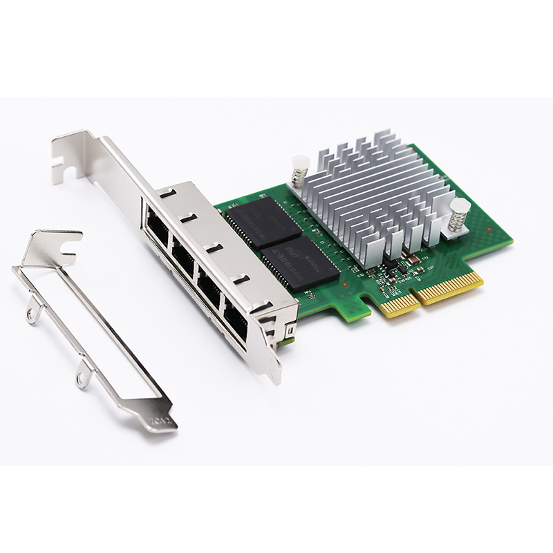 Brand new pci-e 4 port Gigabit Ethernet Network Card 1000M RJ45 Quad-port i350 NIC LAN Adapter for Intel I350T4 Server Chipset e350t4 pci e x1 quad port 10 100 1000mbps gigabit ethernet network card server adapter lan intel i350 t4 nic