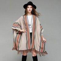 Fashion Winter Women Cardigan Shawl Women Tassel Knit Cardigan Sweater Coat Sexy Bat Sleeve Female Sweater Shawl Coat WLD237