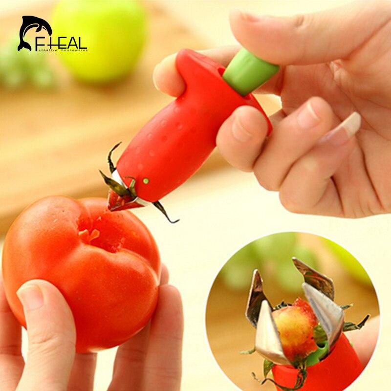 Fheal hullers fresa frutas herramientas de excavación de tomate nuclear corers t