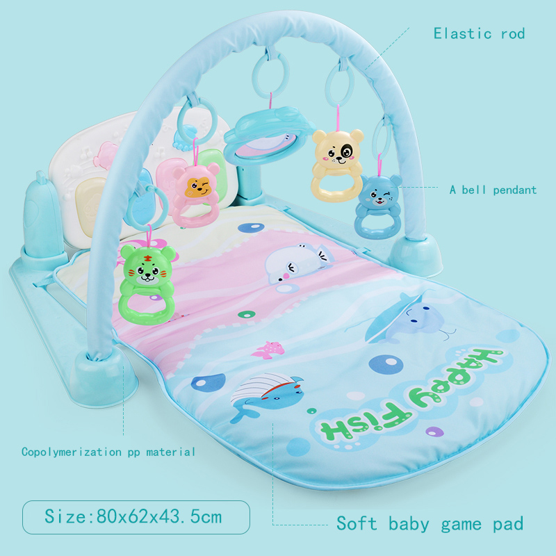 Baby Crib Mat Music Toy For Infant Foot Exercise Stand Piano Baby