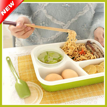 4 Compartments Bento Lunch Box Set For Kids Multifunctional Lunchbox For Lady Microwaveable Bento Box For