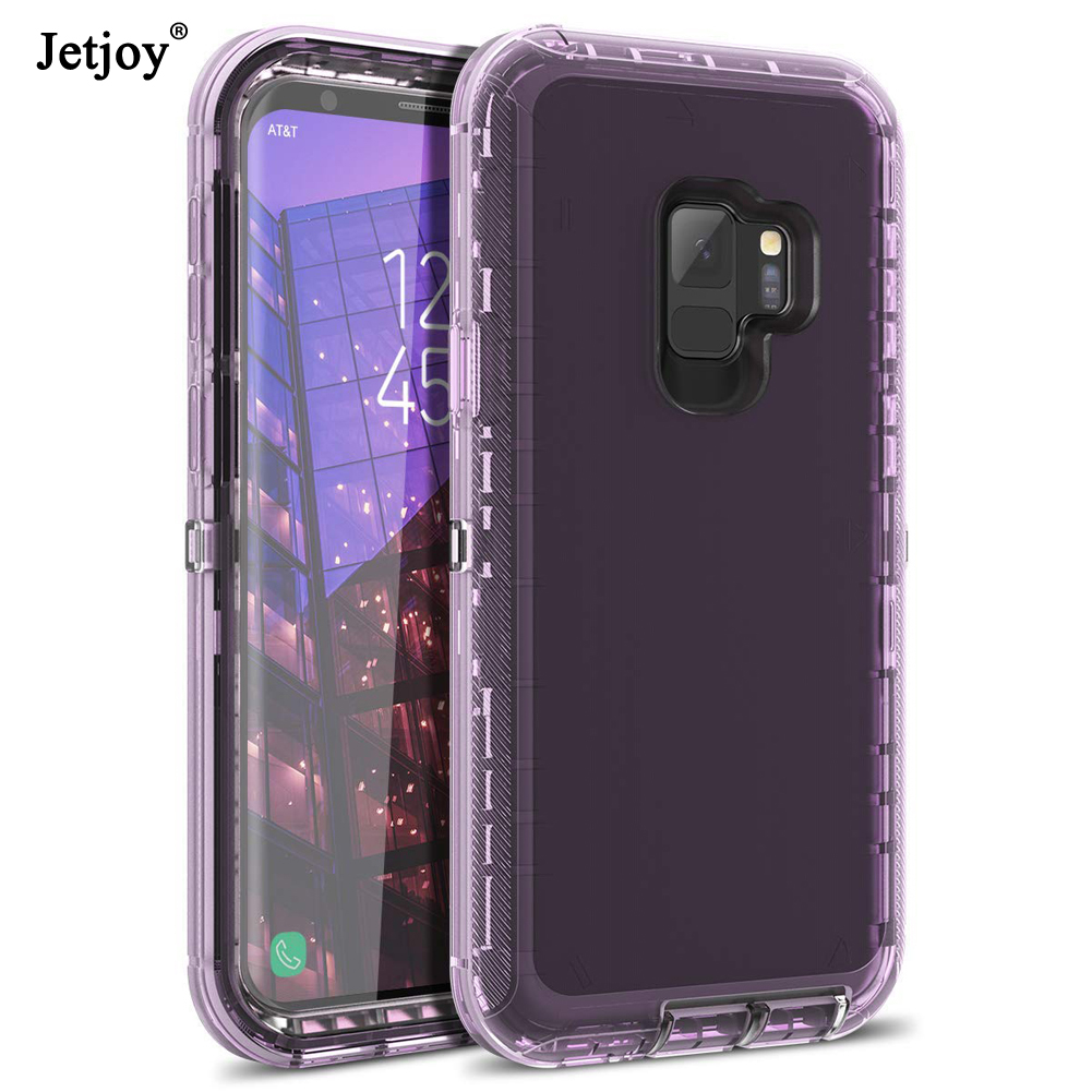 Jetjoy Hybrid 3in1 Hard PC&Soft <font><b>Silicon</b></font> Armor Translucent Phone <font><b>case</b></font> for <font><b>Samsung</b></font> Galaxy Note 8/Note 9/<font><b>S7</b></font> <font><b>Edge</b></font>/S8 PLUS/S9/S9+ image