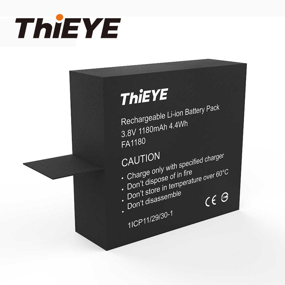 1pc 1180mAh Lithium Rechargeable Battery for ThiEYE V6 / V5s Cheap Action Camera Accessories For Sport  Camera