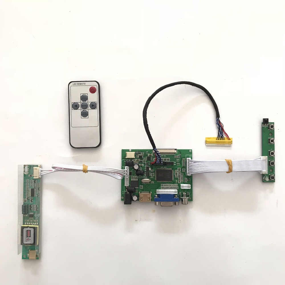 Free shipping RTD2660 Universal HDMI VGA AV LCD Controller Board for 16inch 1366x768 LTN160AT01 CCFL LVDS Monitor Kit vga hdmi lcd controller board for lp156whu tpb1 lp156whu tpa1 lp156whu tpbh lp156whu tpd1 15 6 inch edp 30 pins 1 lane 1366x768
