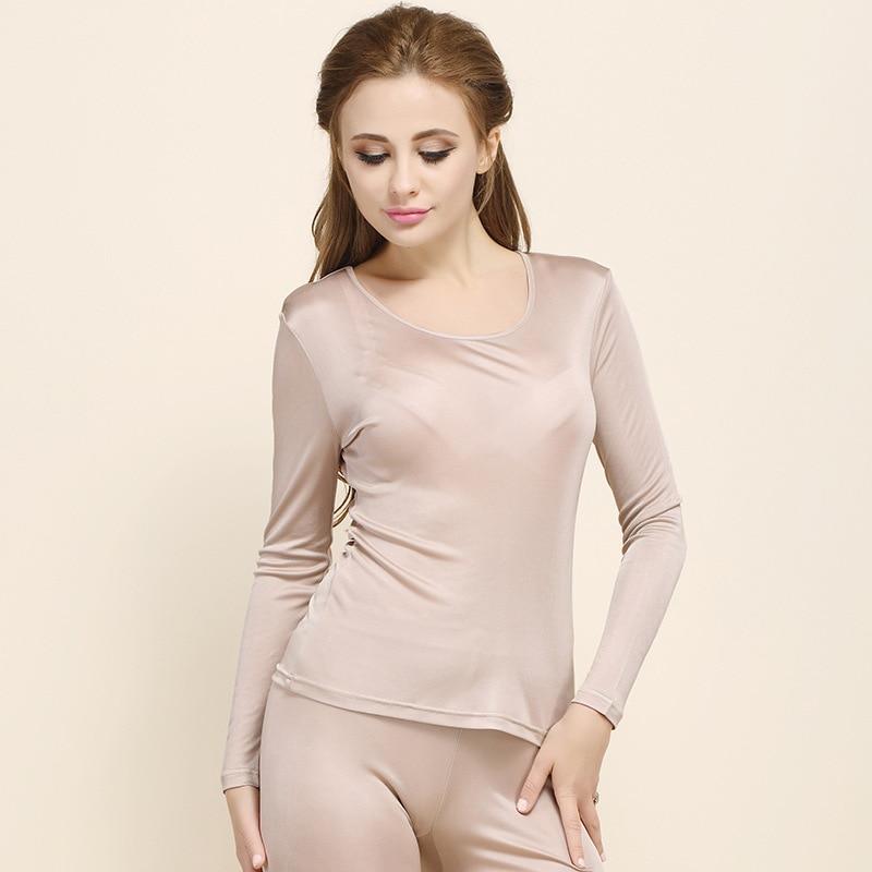 High Quality Spring and Autumn Women's 100% Real Silk   Pajamas     Set   Woman Pijama Home wear Sleep Retro S2701A