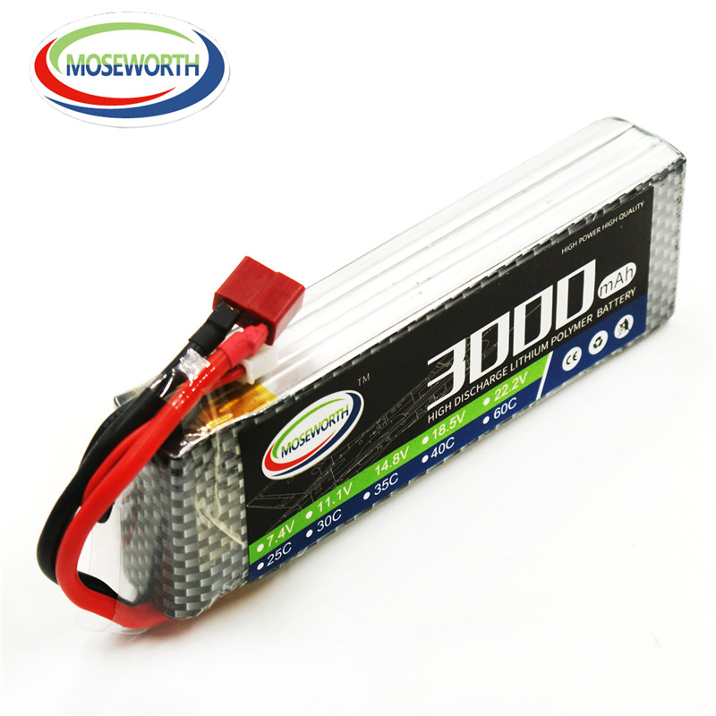 MOSEWORTH 3S RC Lipo Battery 11.1v 30C 3000mAh For RC Aircraft Car Drones Boat Quadcopter Airplane Helicopter Li-polymer 3S AKKU 1s 2s 3s 4s 5s 6s 7s 8s lipo battery balance connector for rc model battery esc
