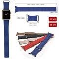 Новый 100% Подлинная ссылка браслет Для Apple Watch Band Leather Loop 42 мм Регулируемая Магнитным замком Для Apple Watch кожаный ремешок