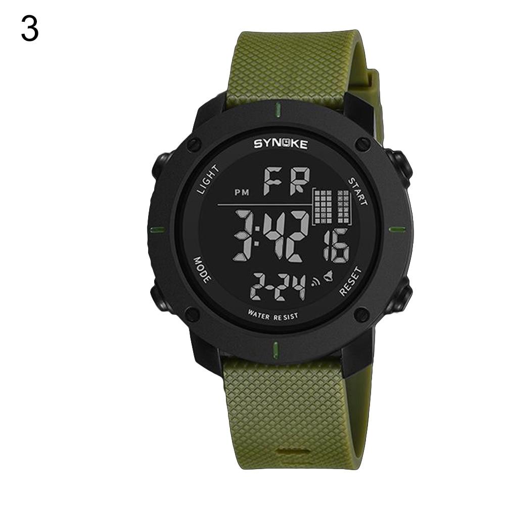 Mode Männer Luminous Outdoor Sport Digitale Armbanduhr Uhr 50 mt Wasserdicht
