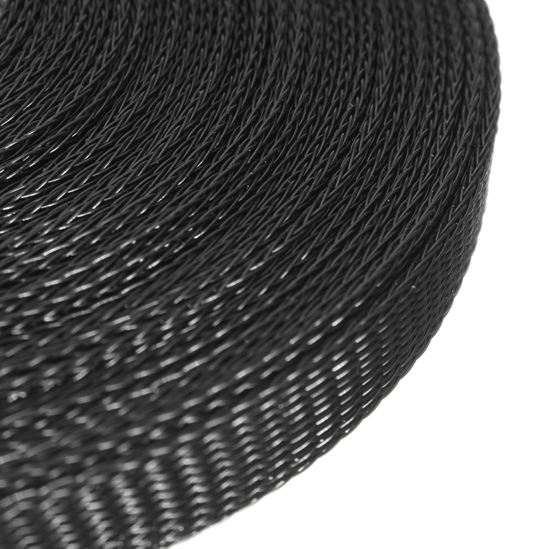 20ft Black Wire Cable Sheathing Expandable Sleeving Braided Loom ...