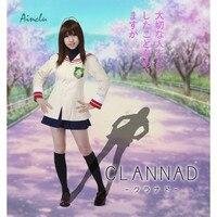 Ainclu anime school uniform cosplay Clannad Ibuki Fuko Hikarizaka Private High School Grade 1 School Anime Cosplay Costume