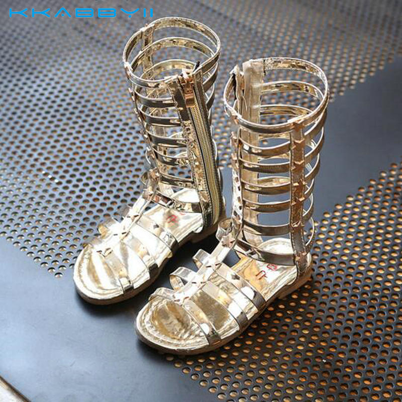 KKABBYII Female Child Sandals Princess Shoes High Shoes Cut-Out Gladiator Baby Boots Girls Fashion Sandals Size 26-36KKABBYII Female Child Sandals Princess Shoes High Shoes Cut-Out Gladiator Baby Boots Girls Fashion Sandals Size 26-36