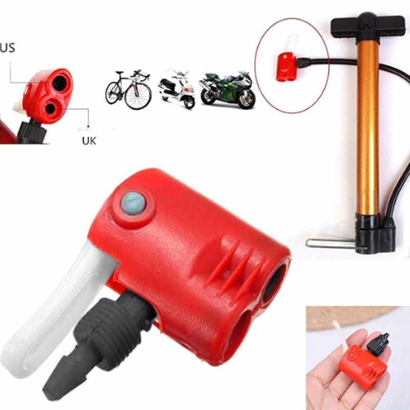 Wysokiej jakości zawór camping jazda na rowerze rower sprzęt rower rowerowy rower opona wymiana rury podwójny szef powietrza adaptera pompy