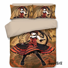 Mxdfafa Anime DATE A LIVE  Duvet Cover Set bedding set Luxury Comforter Bedding Sets Include 1 and 2 pillow case