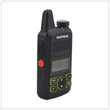 1 stücke x baofeng Mini Walkie Talkie BF T1 UHF 400 470MHz 1W 20CH Kleine Mini Tragbare Ham FM Zwei weg Radio Mit Hörer