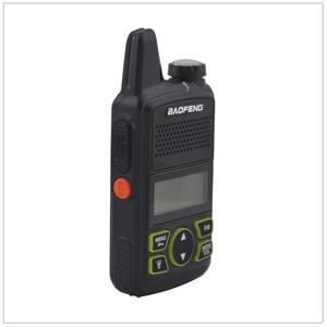 Image 1 - 1pcs x baofeng Mini Walkie Talkie BF T1 UHF 400 470MHz 1W 20CH Small Mini Portable Ham FM Two way Radio With Earpiece